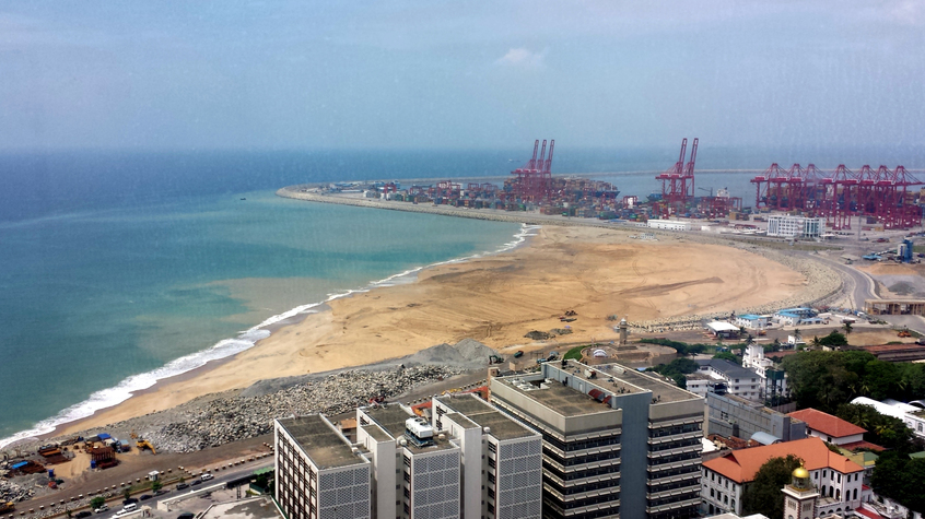 Colombo's International Container Terminals, near where the new port city will be build (CDR)