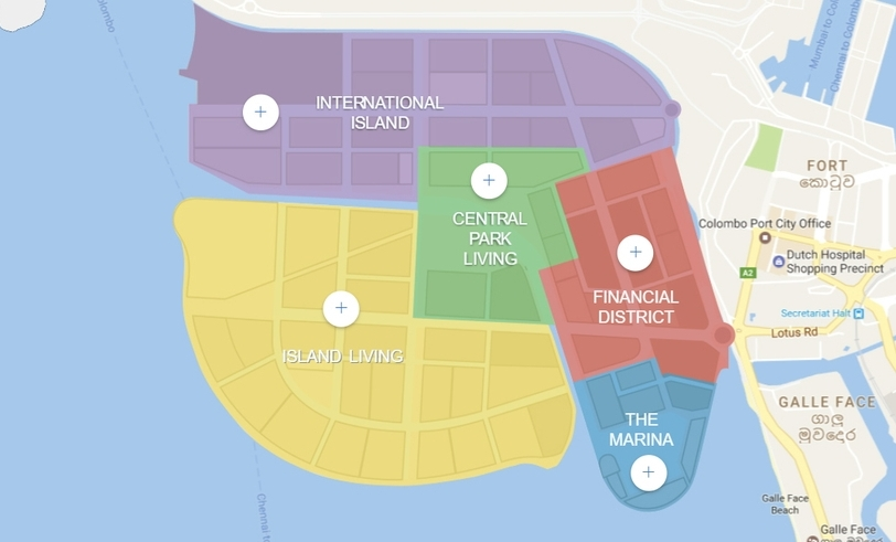 CHEC's plan view of the reclaimed land, just south of the existing port