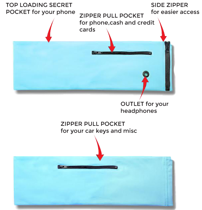 These waist packs feature many pockets to keep everything safe. zippers, pockets, smartphone headphone outlet, side zipper, easy to use.