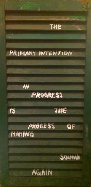 intentioninprogress, 2015