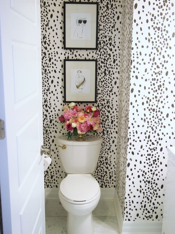 Wallpapered Bathrooms Ideas | Wallpaper 2 Bathroom Ooh La La Mode