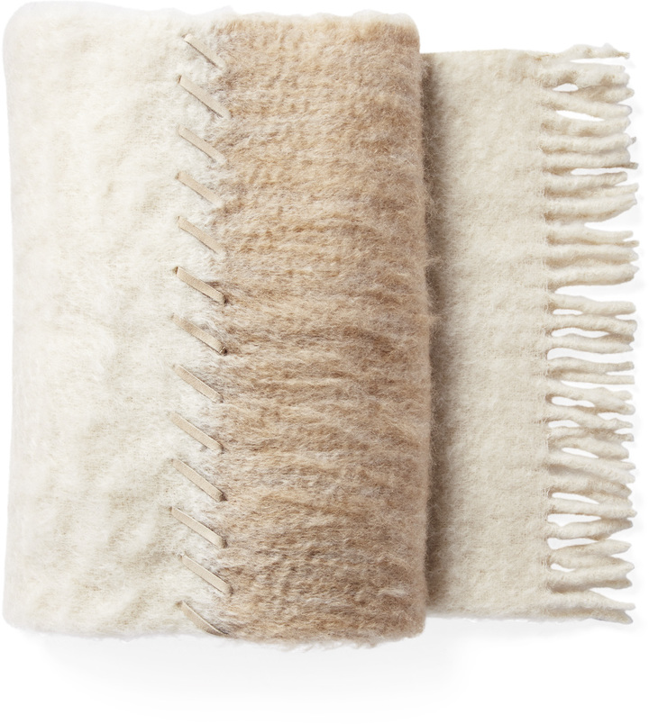 caramel mohair throw $348