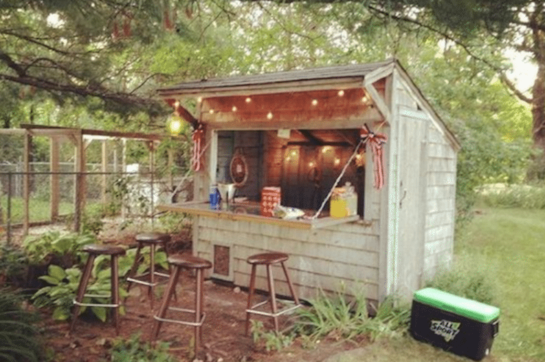 Man Cave Ideas In Garden : Backyard bar shed — ooh la mode