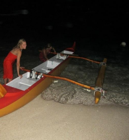 outrigger canoe & fall in