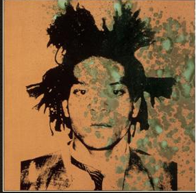 warhol's painting of basquiat
