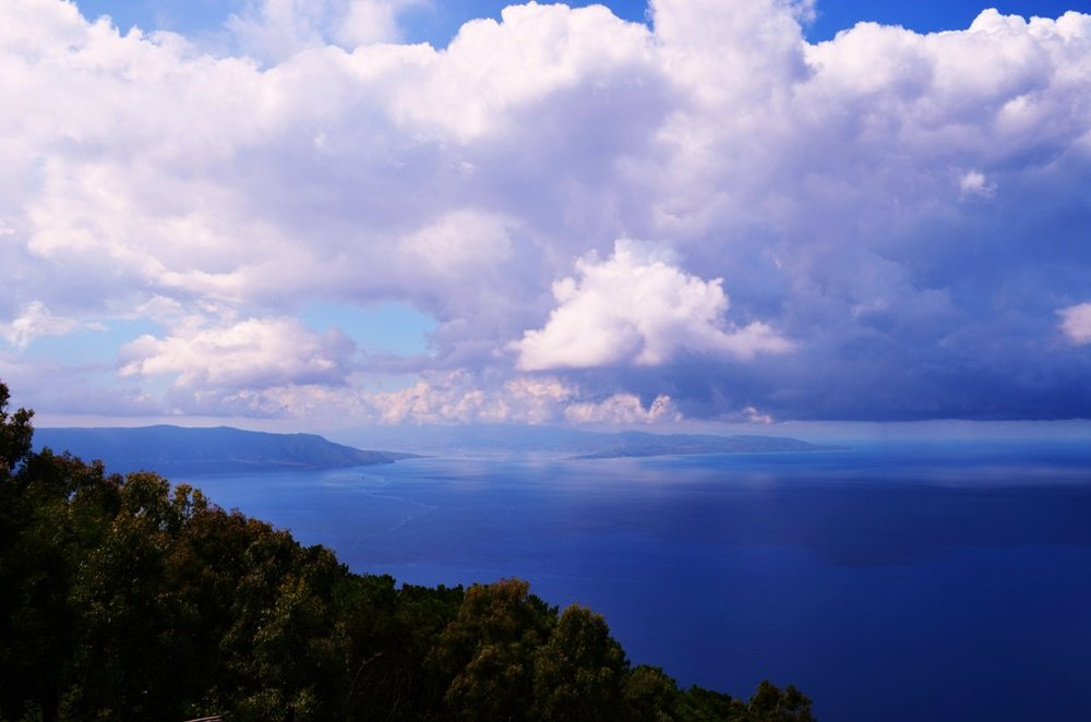 Strait of Messina from Mount Saint'Elia