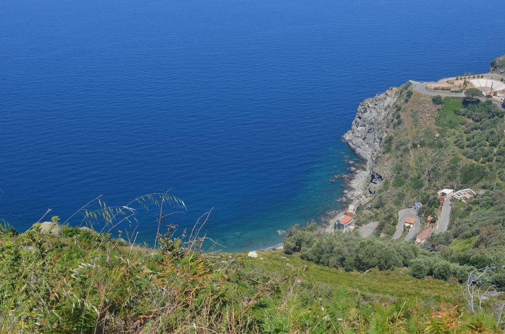 La spiaggia della Marinella vista dal Monte Sant'Elia