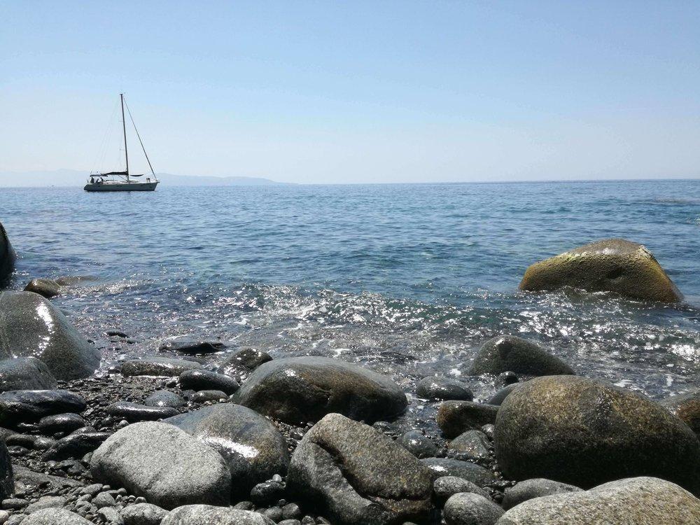 La spiaggia della Marinella a Palmi (RC)