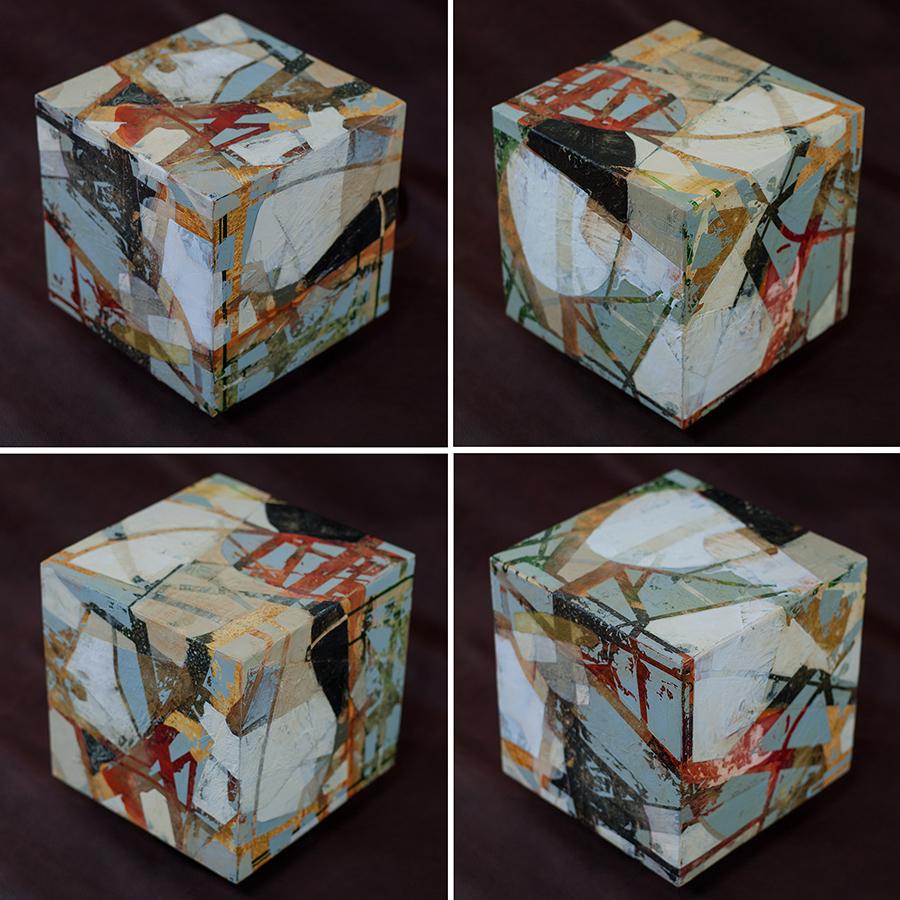 Erosion Series: Urban Grid Cube #85