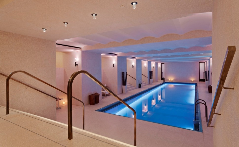 Spa swimming pool, bespoke glaze. Café Royal Hotel, London, England.
