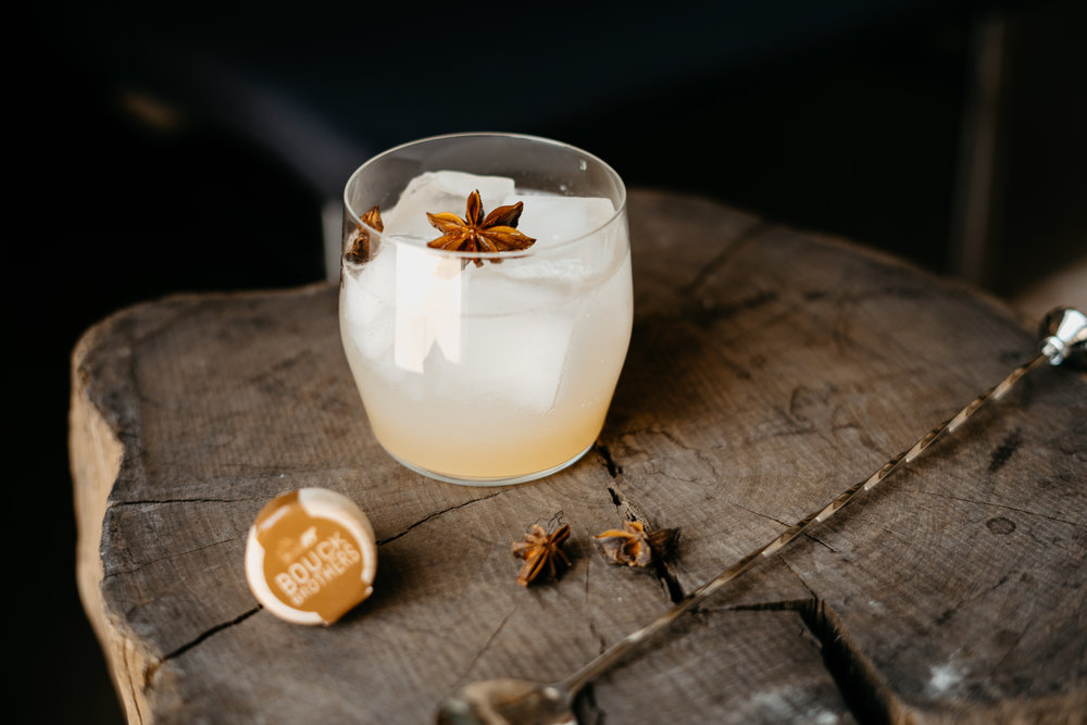 Fancy Bear Soda - 2 oz Brown Bear Gin1 oz orgeat almond syrup2 dashes Fee Brothers Cardamom Bitters4 oz soda waterStir Brown Bear Gin, orgeat and bitters in a highball glass, fill with ice, top with soda.