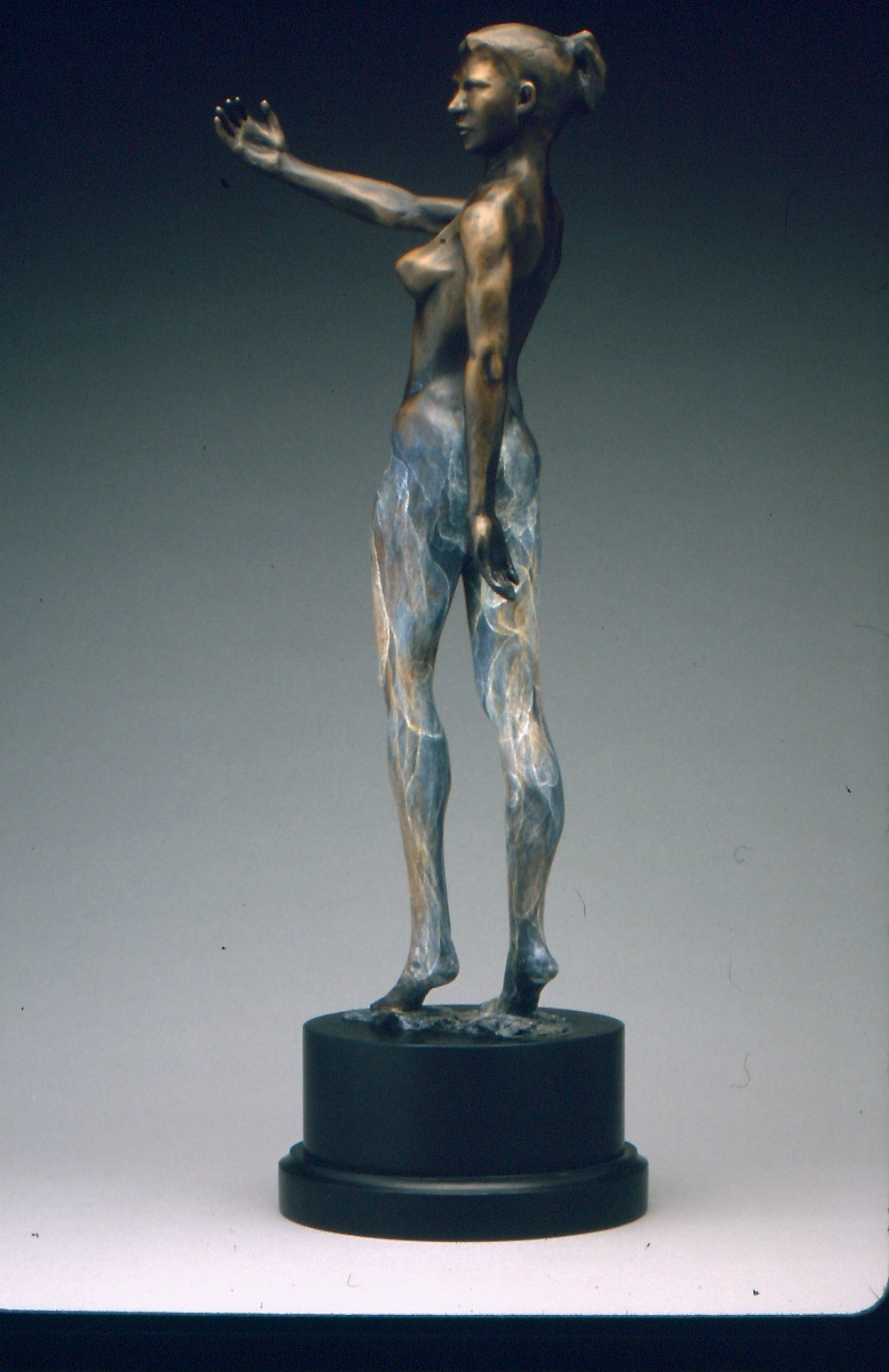 La Reaction (2003) Bronze, Edition: 30, 25.5x9x7in. $3,650