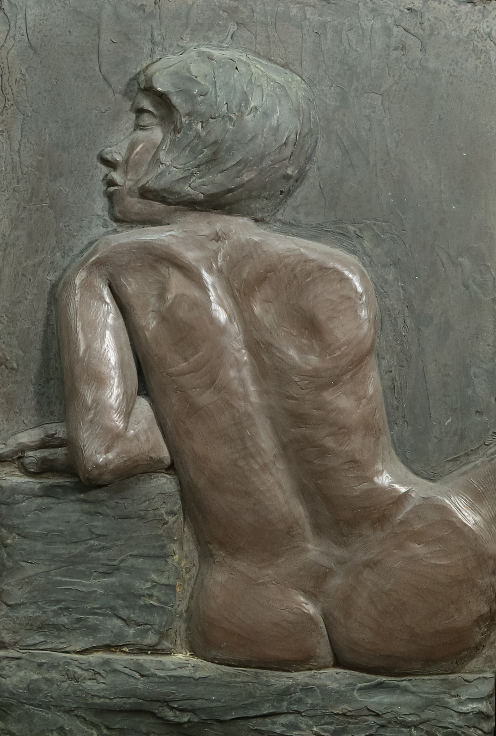 La Regard (2000) FMG Bronze, Edition: 30, 24x16.5x.5in. $1,400