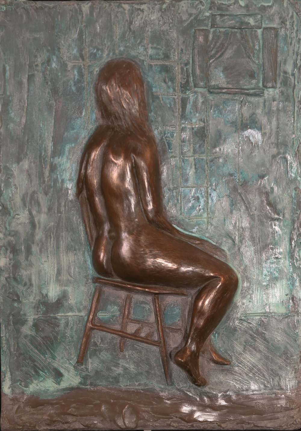 Femme sur la Chaise (2015) FMG Bronze, Edition: 30, 14x10x.25in. $1,500