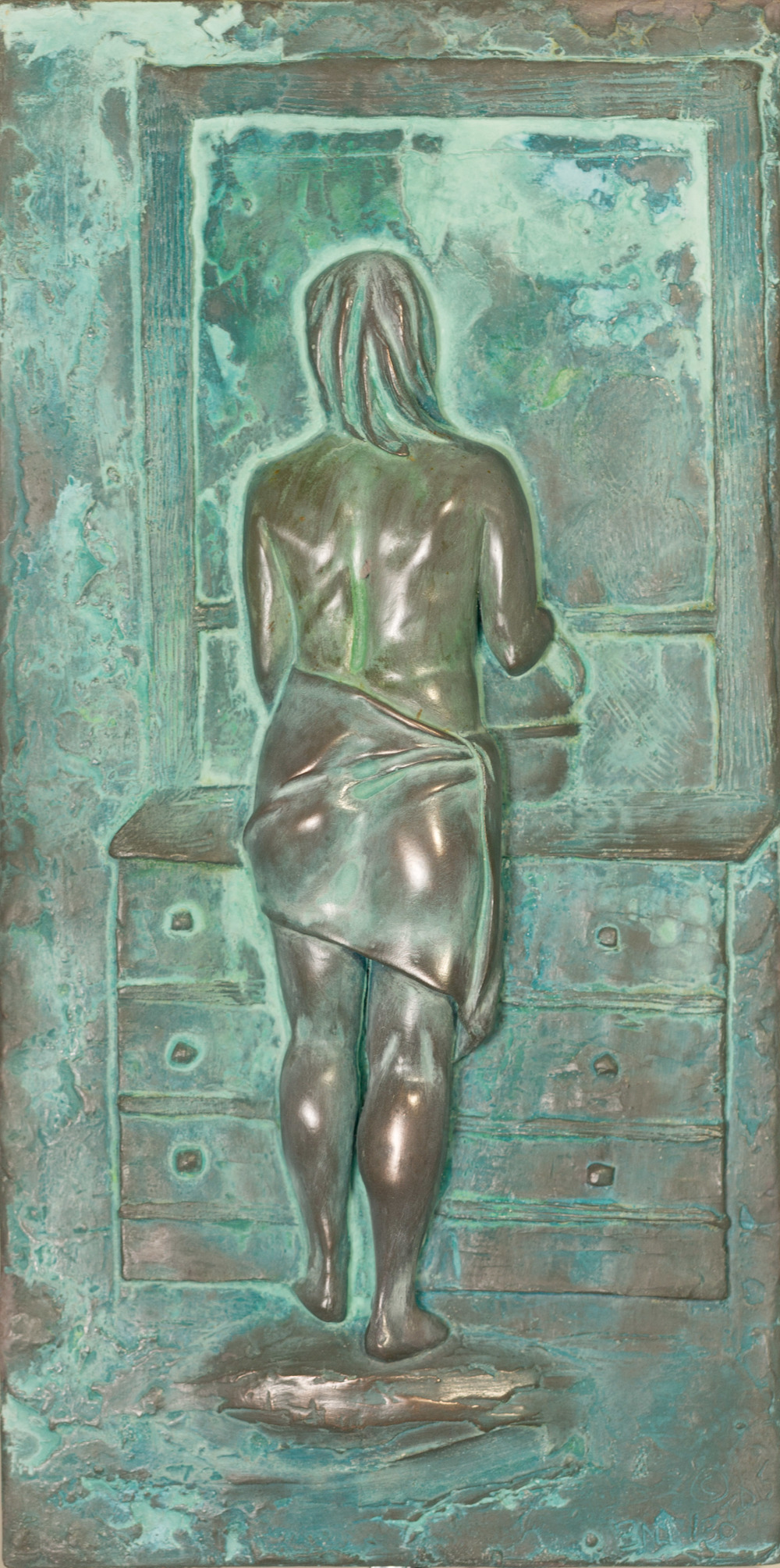 Pre'pare la Toilette (2015) FMG Bronze, Edition: 30, 16x8x.25in. $1,500