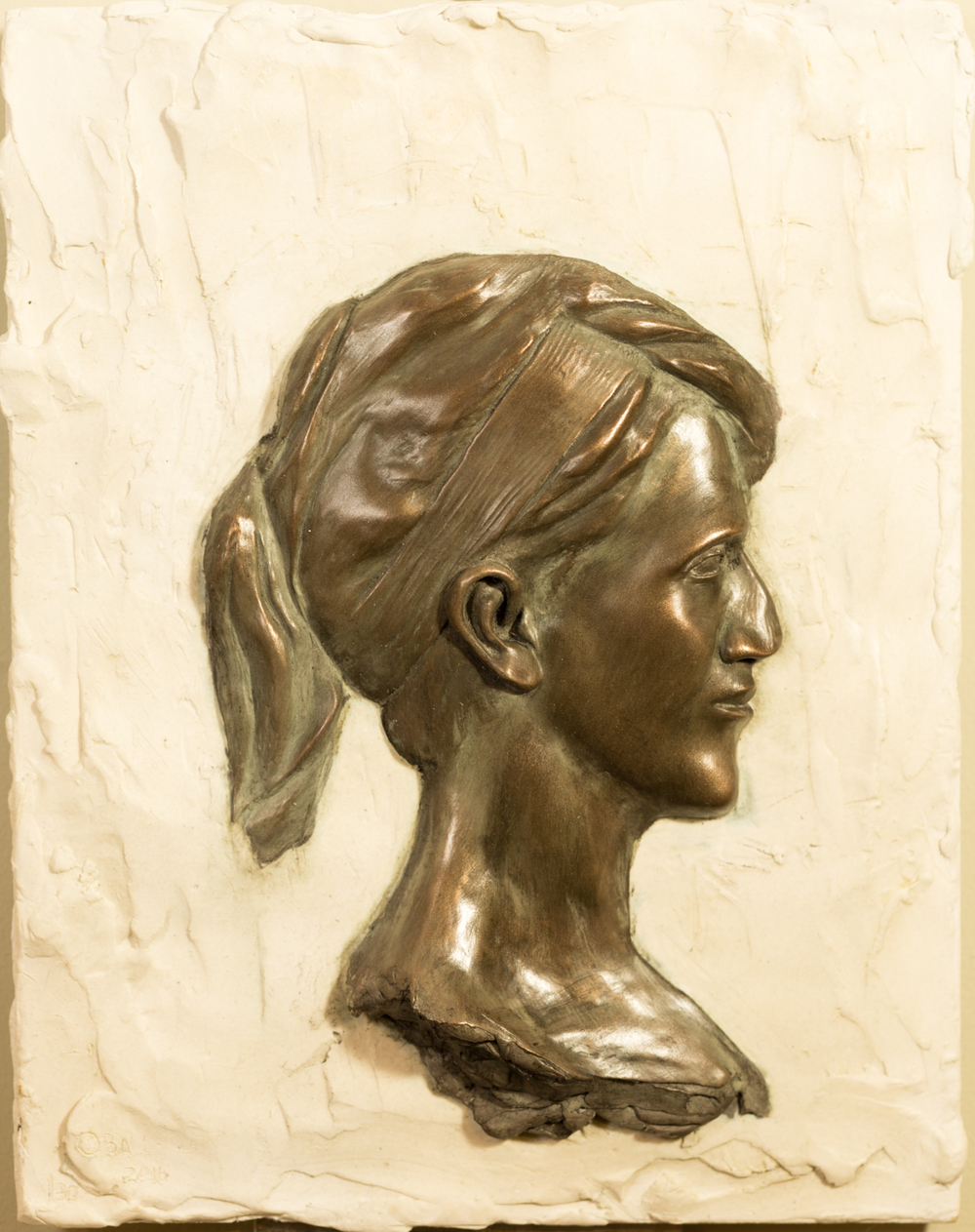 Emily (2016) FMG Bronze/Marble, Edition: 30, 14x11x.375in. $1,350