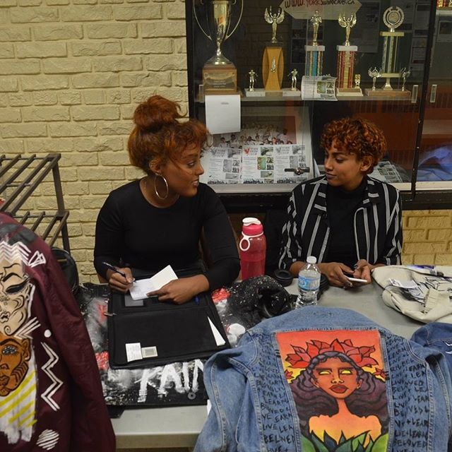 Make sure you check out @shopblckpaint for hand painted jackets. Special thanks to these two beautiful ladies for coming out and sharing their amazing work with our community this past Saturday.