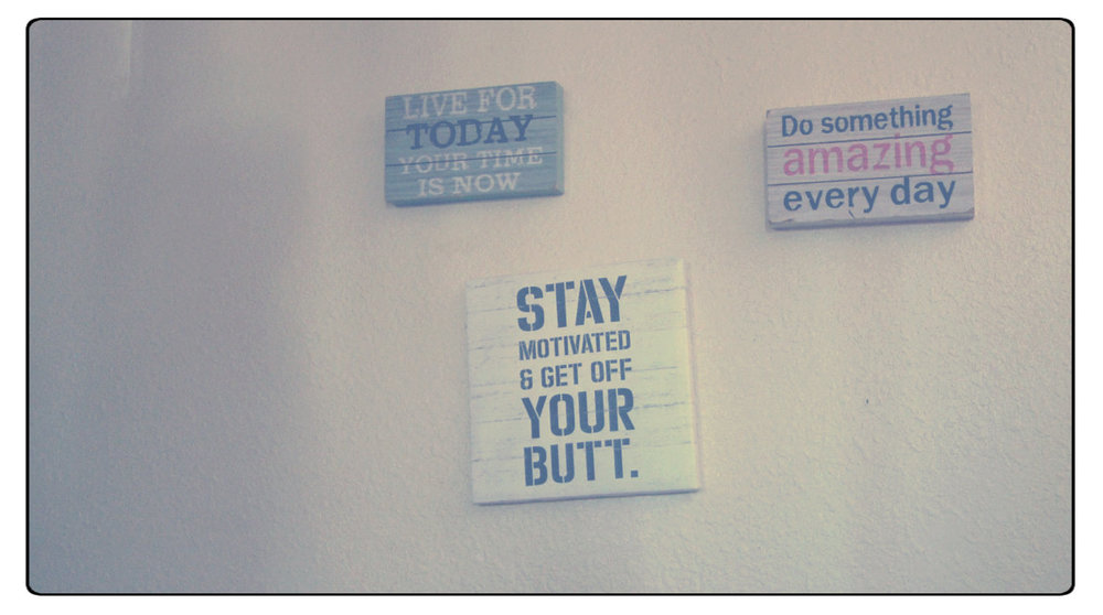 Inspirational messages lined the walls of the Eddy House.