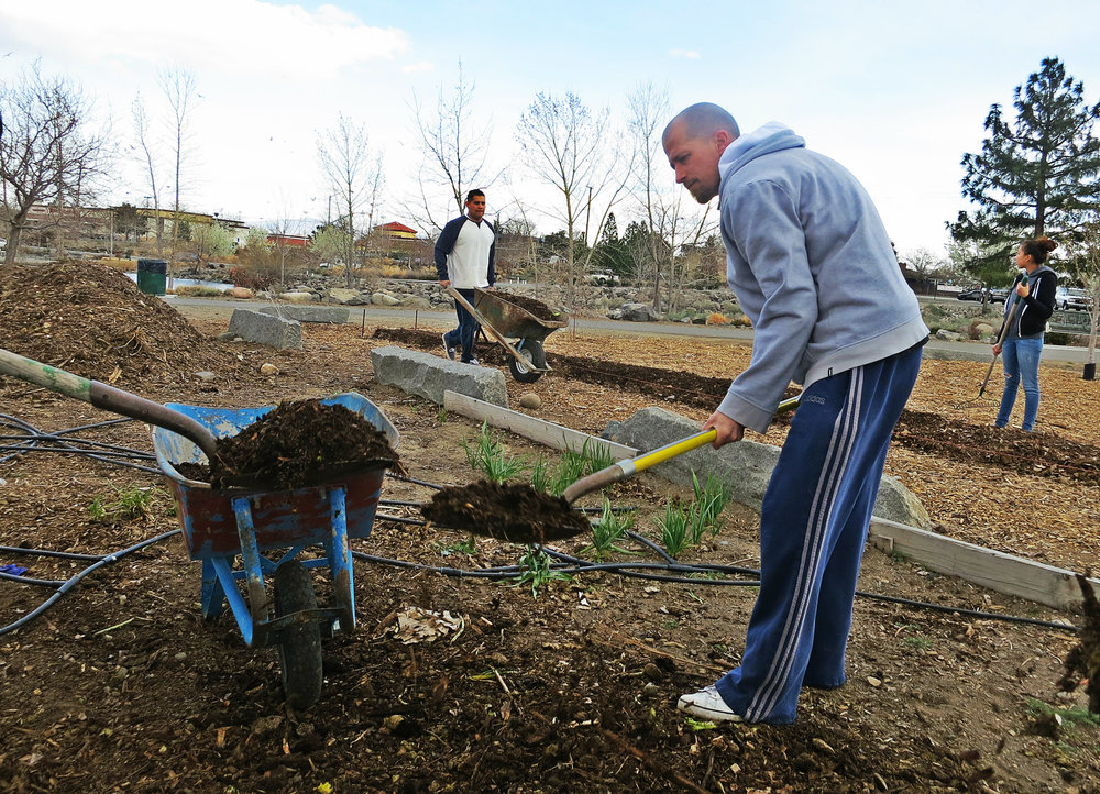 """Everybody in the community will have 100% outright access, 24 hours a day. All we are doing is putting in the labor and love. We're giving people free organic produce while building a healthy community at the same time,"" Skinner said on the first day of Spring as breaking ground got underway."