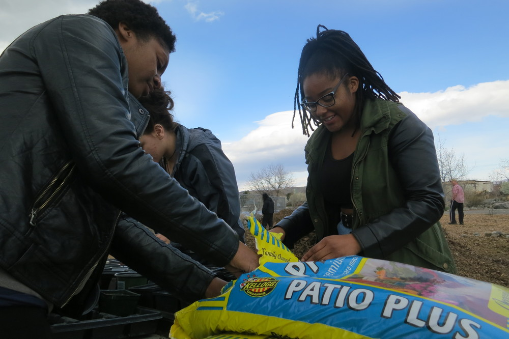 """We're part of a group called Food not Bombs,"" said Niya Jones, while she prepared pots with friends and fellow activists. ""It's going to be more fun when it's warmer, but you have to start early, get the work in."""