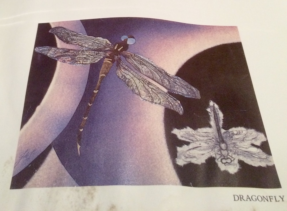"""Joanne de Longchamps, ""Dragonfly,"" from ONE CREATURE: poems & collages, 1977."