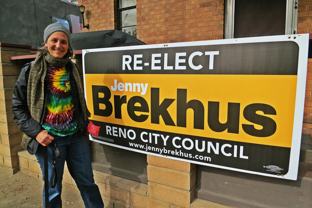 Brekhus, this week in the middle of a morning dog walk, believes among other things in artists, walkable downtown areas, effective planning, affordable housing, and her own re-election.