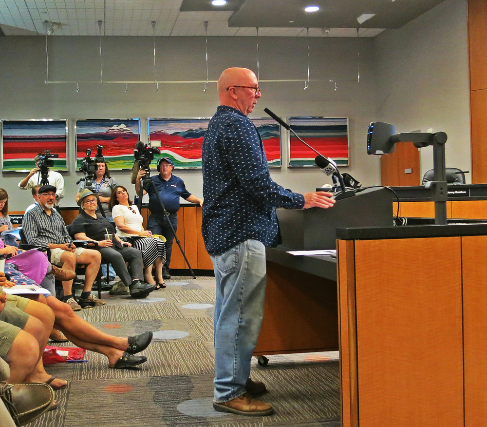 VanGogh, who unsuccessfully ran for the Ward 1 council seat in the most recent primary, brought some of his views to City Council on July 6, 2016