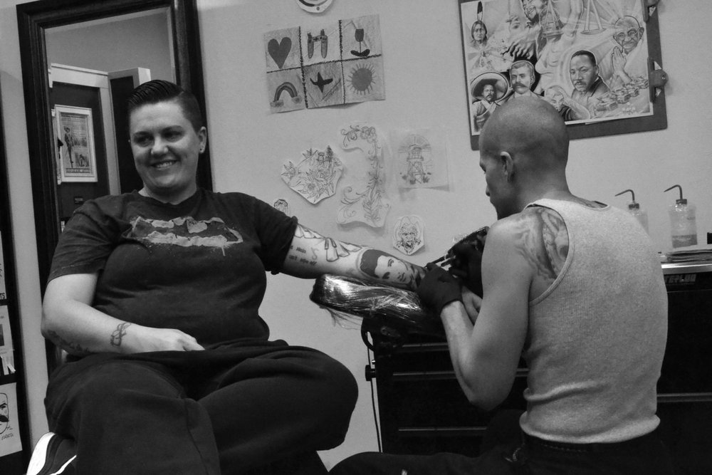 """Custom, one of a kind tattoos with deep meaning, in a safe space is the demand we provide for the people,"" Skinner says.""Sharing a bond with the person walking through the door and becoming old friends, and quick, is my favorite part of the art (...) Our people offer up a lot of trust that we take very seriously. Our goal is to always honor that and give our very best back to the people."""