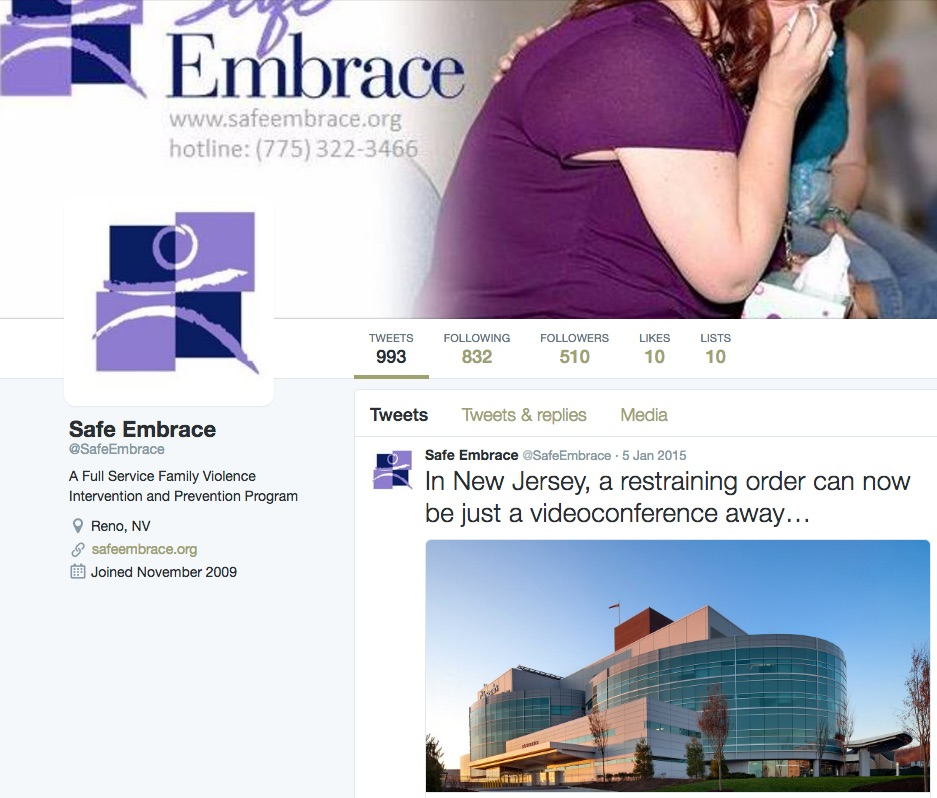 Safe Embrace also has a Twitter account.