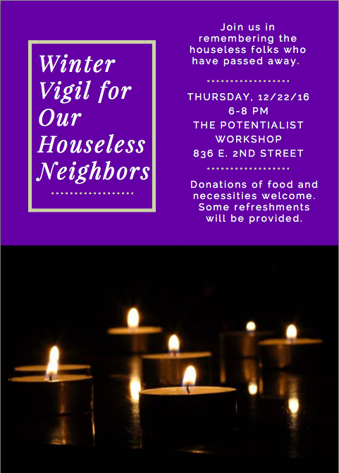 The organizers of the event encountered some logistical problems when planning the vigil. When attempting to find out the names or even just the number of homeless individuals who have died recently, they encountered a lack of information.