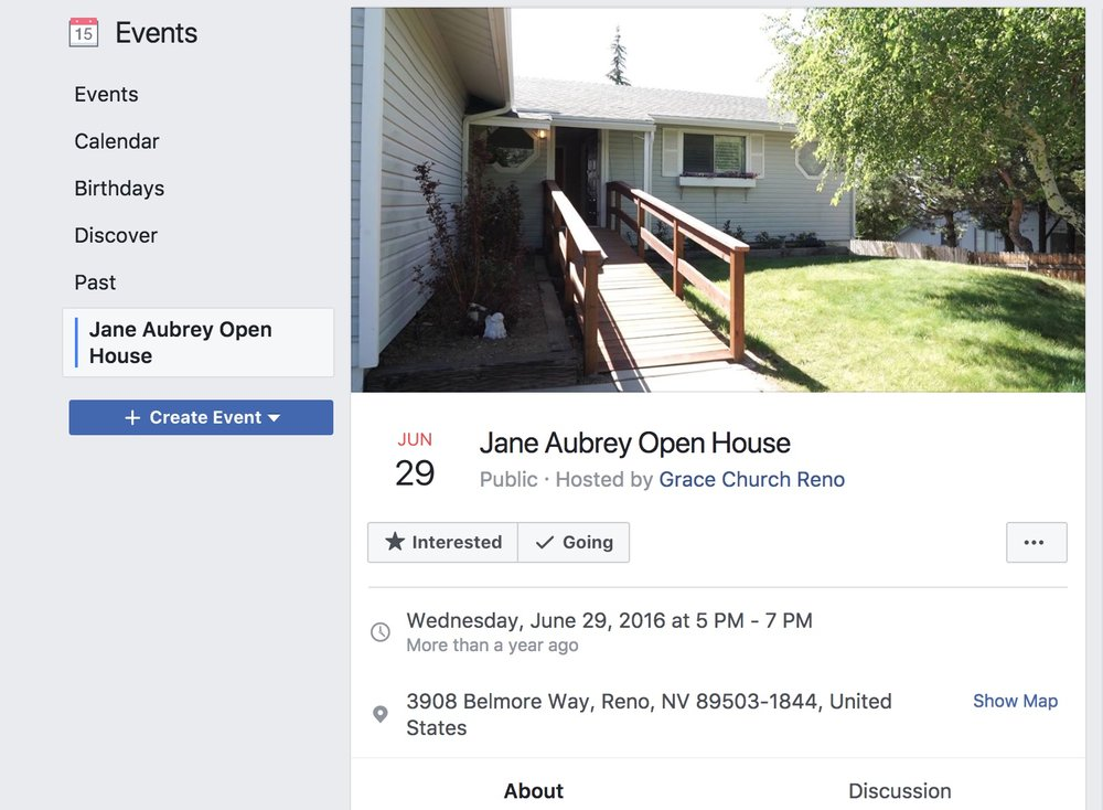 A screengrab for a 2016 event for the Jane Aubrey House. Picetti says showing love to those in recovery and putting them in a home family environment with like-minded people increases their chance of getting rid of their addiction.