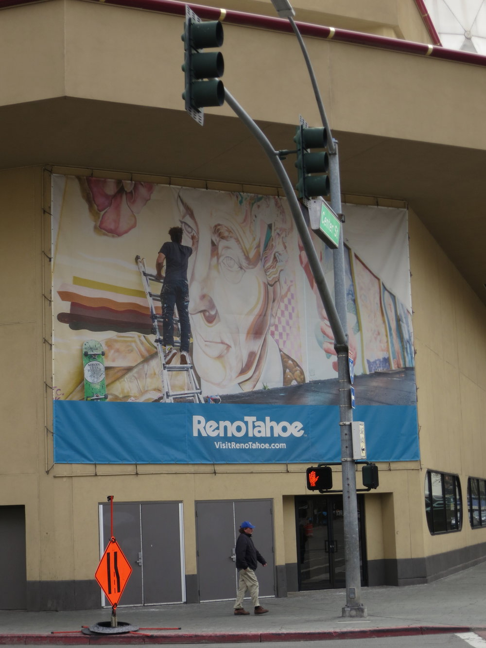 Murals are part of the advertising campaign for a new, artsier and cleaned up Reno.