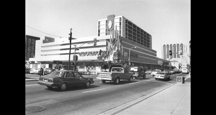 The building of the Eldorado and parts of I80 in the early 1970s had a huge impact on Reno's core. Photo from http://www.onlinenevada.org/about-4th-street-prater-way-history-project