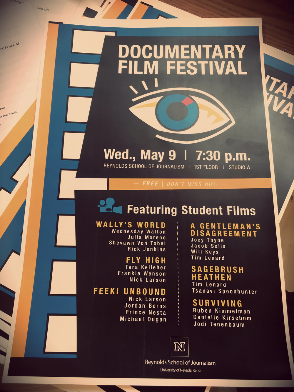 "Thyne's film played with other films from a class taught by documentary filmmaker Kari Barber. ""People are really excited about the issue and a girl came up to us after the film festival and said she wanted to take the documentary class next semester and said she wanted to do a follow up or something similar,"" he said of some of the reaction he received."