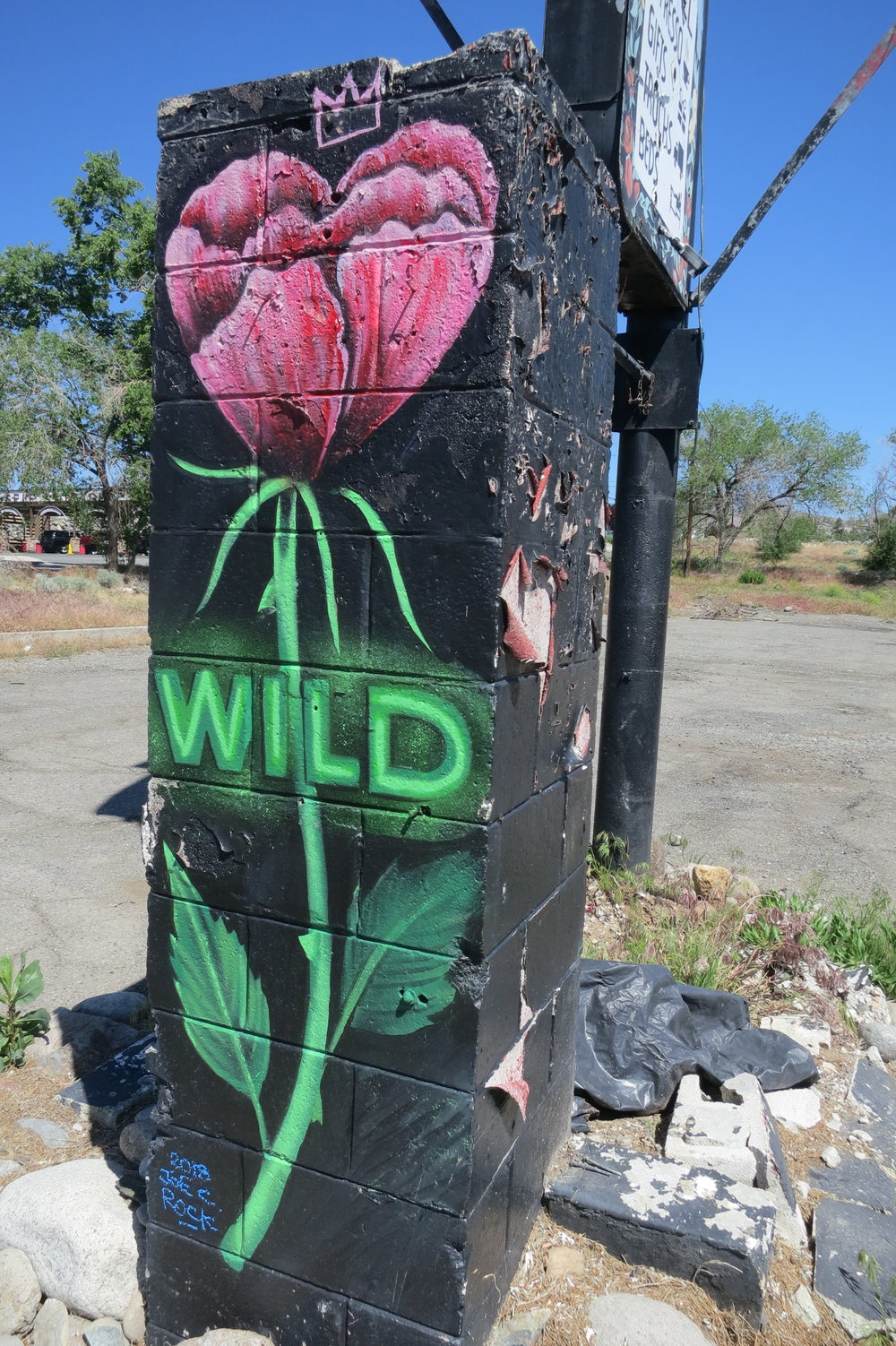 """I hope that people throw some wild flowers on it to make it what it was,"" Dilworth said at the end of his pilgrimage to the now in ruins WIldflower Village."