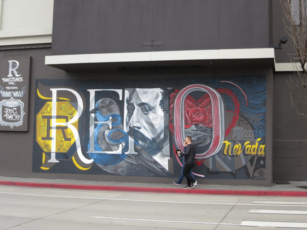 Businesses are also hiring muralists to paint street art type murals to promote their businesses.