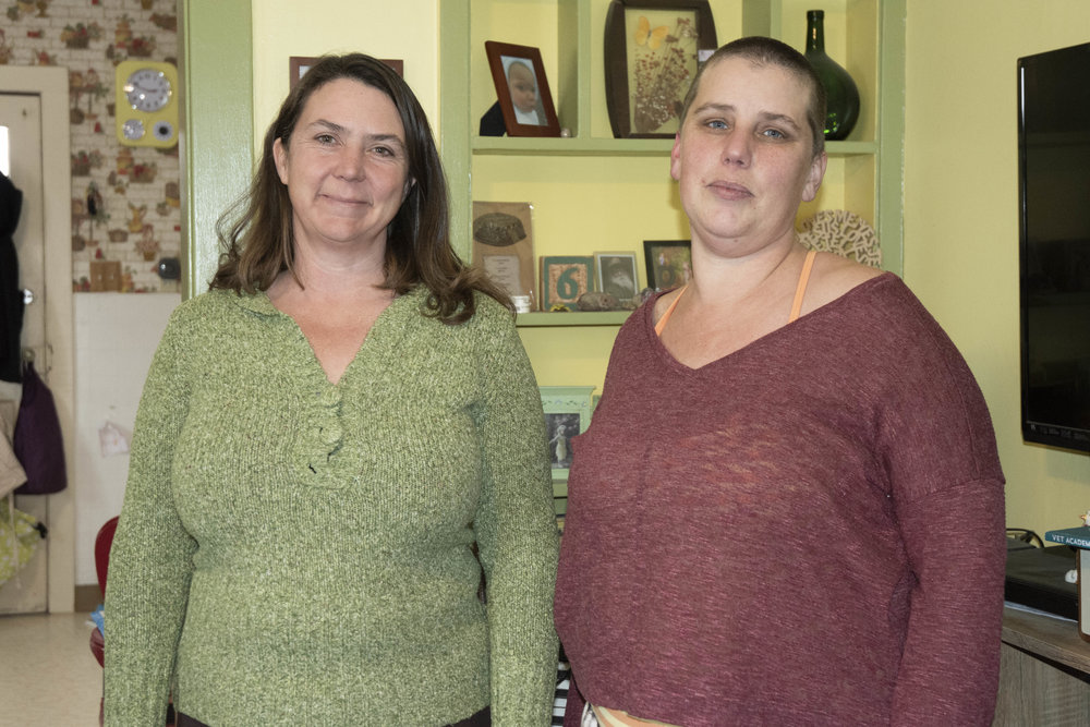 """We're just a group of friends looking to fill a need,"" said Georgia Russell (right) who set up the group with the help of Jennifer Cassady (left) from RISE (the Reno Initiative for Shelter and Equality). Photo by Jordan Blevins for Our Town Reno."