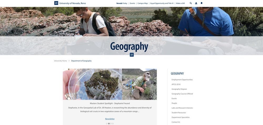 Silvia is doing her work based out of the Geography department at UNR.