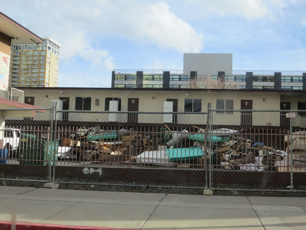 """We need those motels. nothing wrong with them,"" Lee said of the diminishing availability of motel rooms, as more and more get demolished in downtown Reno. ""I mean, you give a homeless man a room and … I guarantee you it will be better off than when they walked in. You know what I'm saying? We're just carpenters, pipe layers, gamers, all of us are out here. Why? Because we had a bad turn and luck, or we lost our jobs due to the new whatever. Yeah. But other than that, it's hard because everybody says, oh yeah, we're gonna help. We're gonna help… I've not seen it yet. I mean, I'm, like I said, I've been out here almost seven years …"""