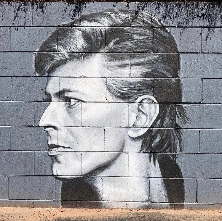 David Bowie Murals on 7th St.