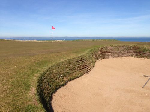 Gullane 1 has some breathtaking views, and penal bunkers