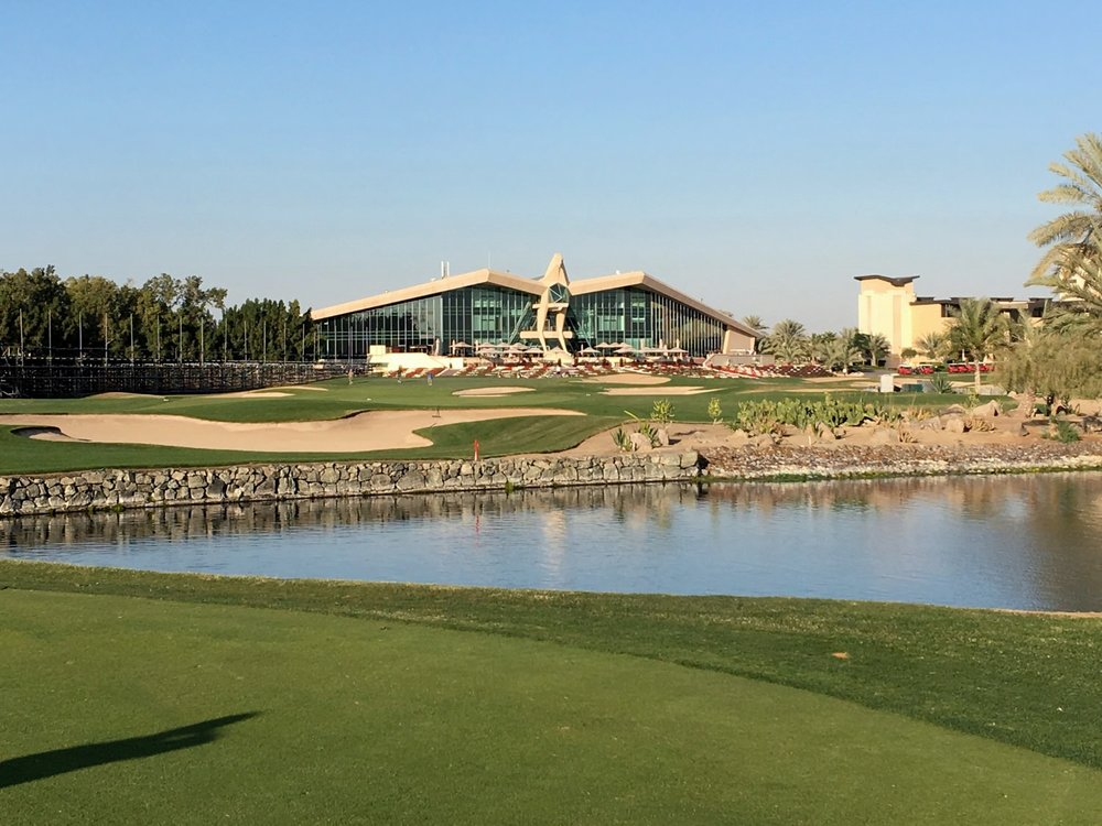 The famous 18th at Abu Dhabi