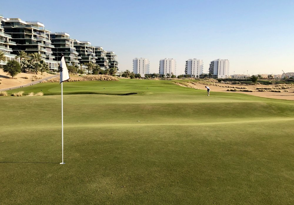 The 7th at Trump Dubai has a cool Biarritz green
