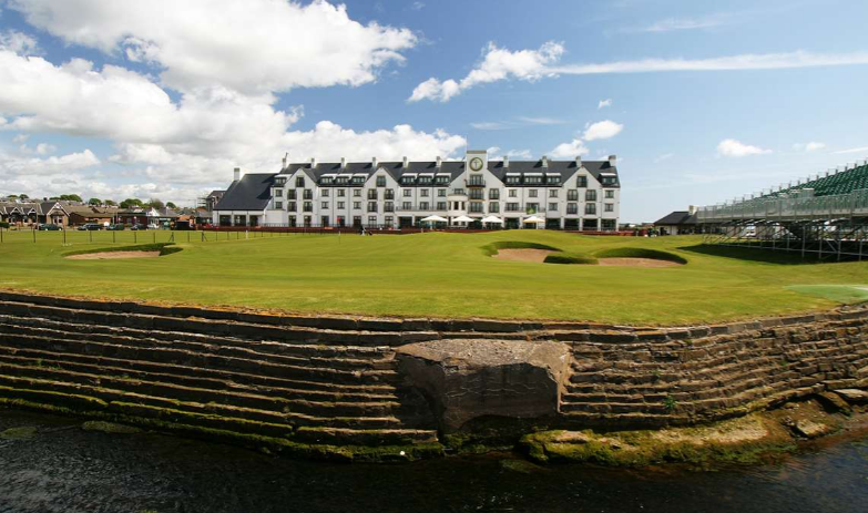 The 18th at Carnoustie. Photo from visitscotland.com