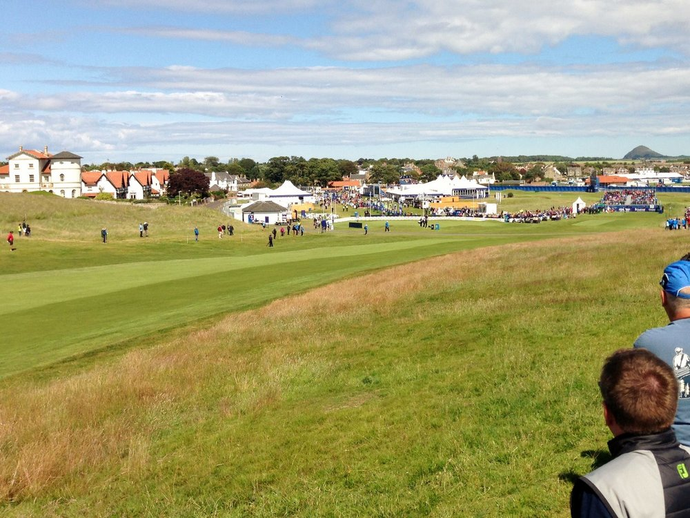 The 2nd at Gullane Number 1 plays as the opener on the Scottish Open course
