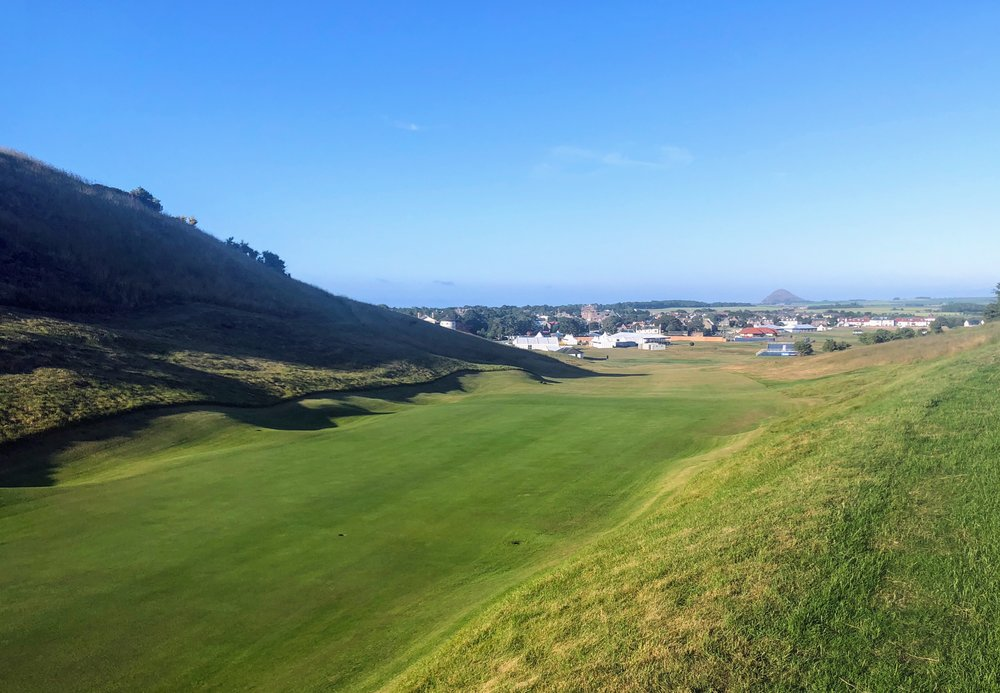 The first will play straight up Gullane Hill to the narrow green, normally the second hole at Gullane 1