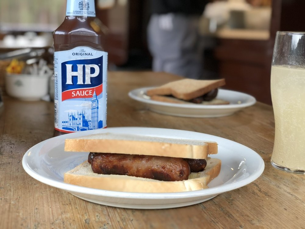 The sausage sandwich at the halfway house at Sunningdale is something of an institution!