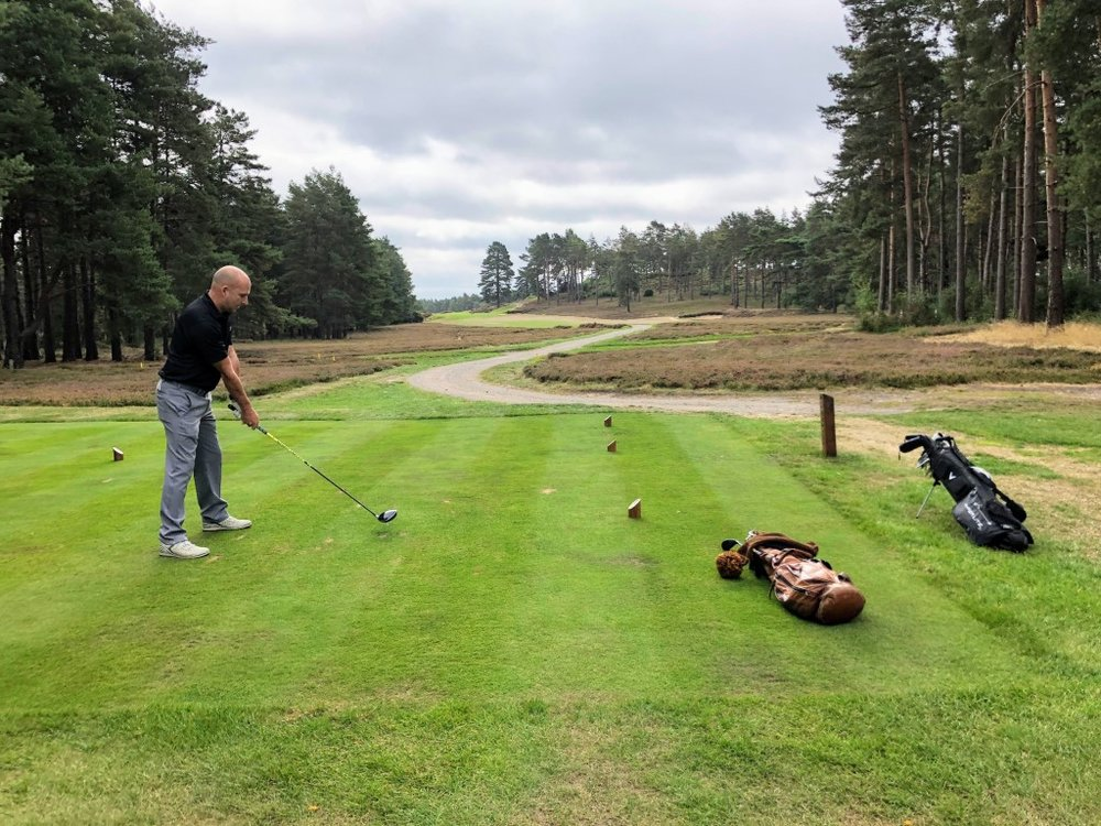 The New course at Sunningdale presents many challenges from the tee