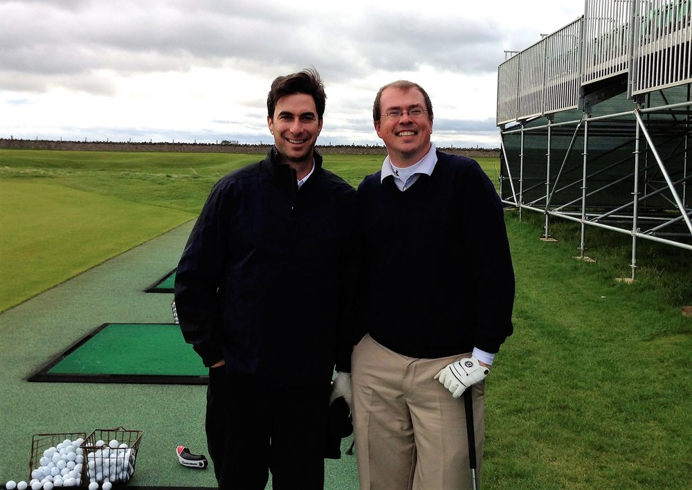 On the range at Muirfield with the great Alan Shipnuck