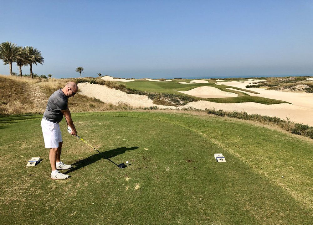 If you're looking for some winter golf the Saadiyat resort in Abu Dhabi combines a nice course with a great hotel and beach.